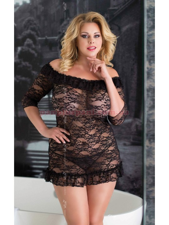 Платье - Cloe, чёрный, XXXL