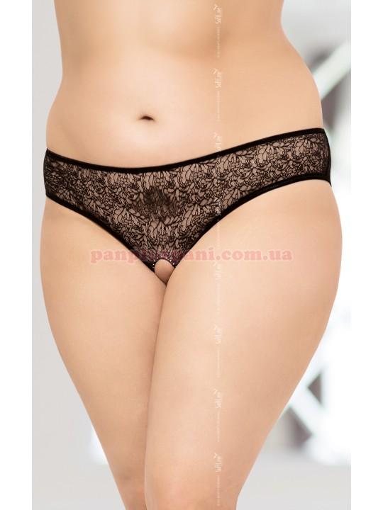 Трусики - 2467 Plus Size, чёрные, XL
