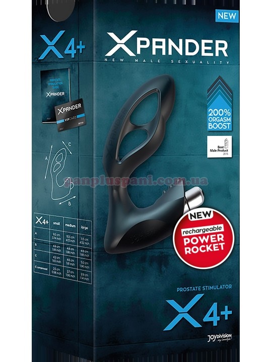 Массажер простаты XPANDER X4+ L с вибрацией