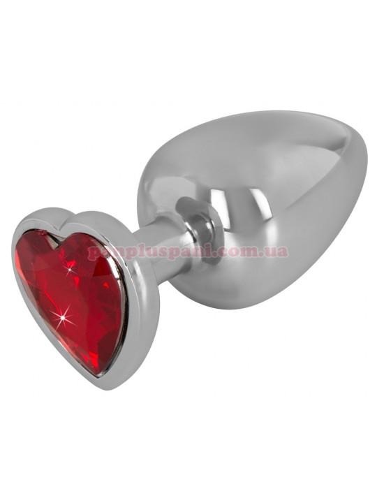 Анальная пробка - Aluminium Butt Plug with a Decorative Gem size L