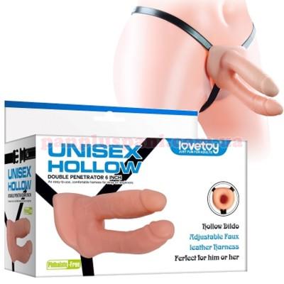 Страпон Unisex Hollow Double Penetrator