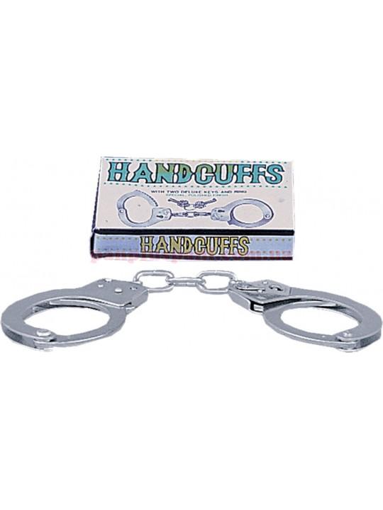 Наручники - Large Metal Handcuffs with Keys