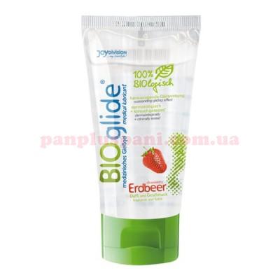 Лубрикант BIOglide Erdbeer (Клубника) съедобный на водной основе 80 мл