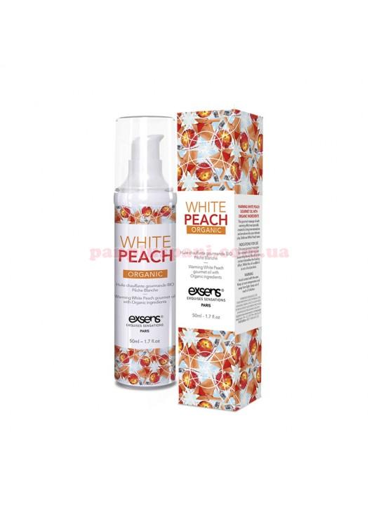 Массажное масло для интимных зон EXSENS Organic White Peach съедобное согревающее 50 мл