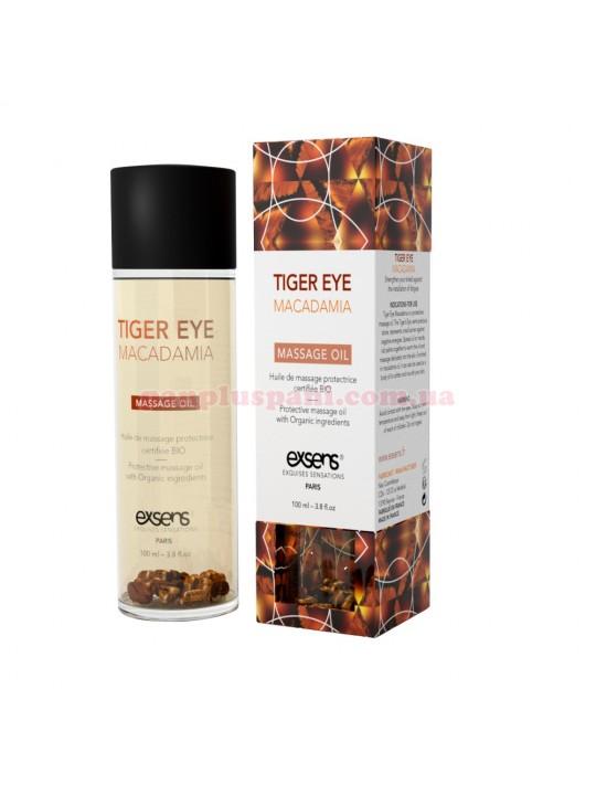 Массажное масло EXSENS Tiger Eye Macadamia защита с тигровым глазом 100 мл
