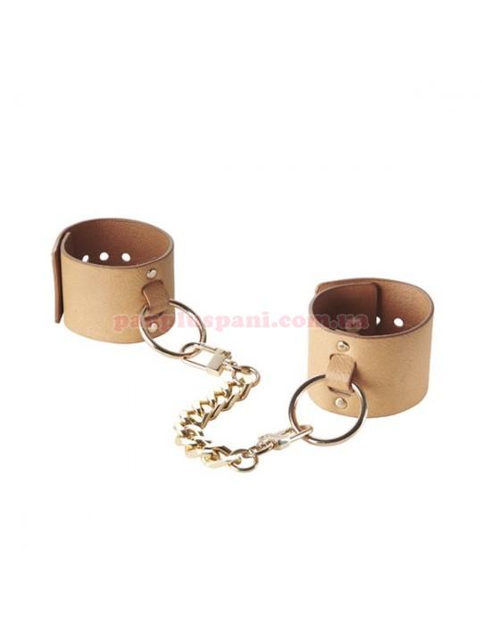 Наручники Bijoux Indiscrets MAZE - Wide Cuffs Brown