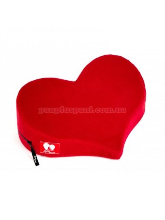 Подушка для сексу LoveBoat Heart червона