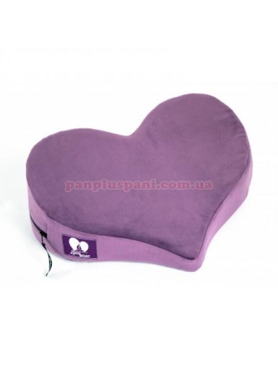 Подушка для секса LoveBoat Heart фиолет