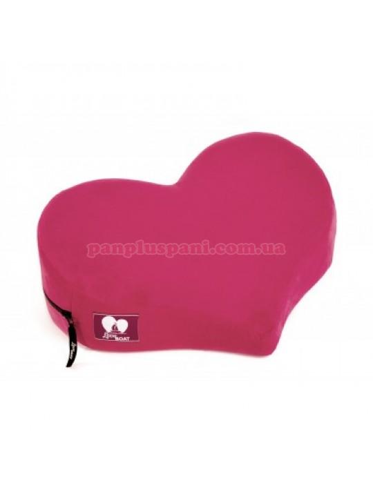 Подушка для сексу LoveBoat Heart  рожева