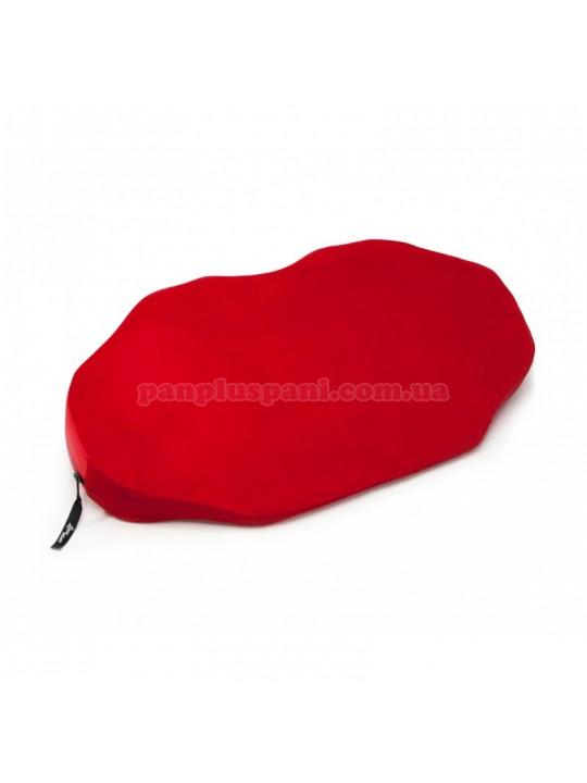 Подушка для секса LoveBoat Lips красная