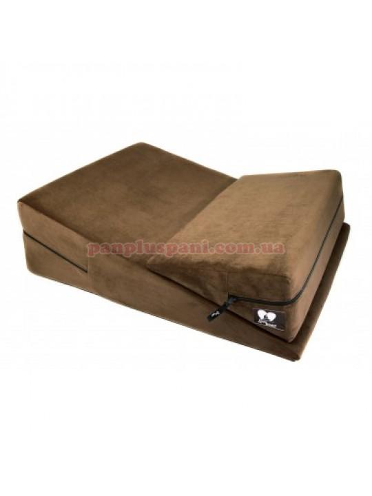 Подушка для сексу LoveBoat Combo (Wedge і Ramp) коричнева