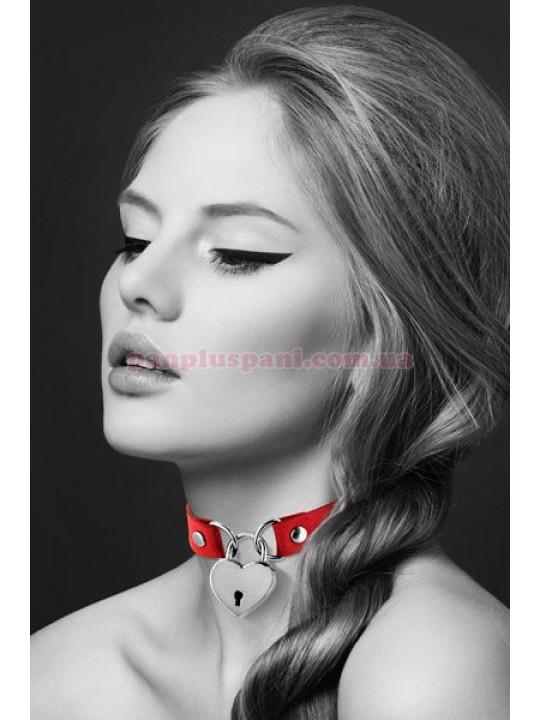 Чокер Bijoux Pour Toi Heart Lock Red