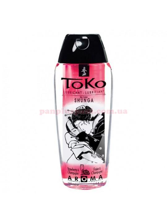 Лубрикант Shunga Toko Aroma Sparkling Strawberry Wine съедобный на водной основе 165 мл