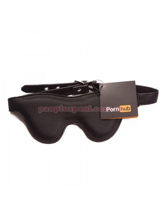 Маска на глаза Pornhub Faux Leather Mask