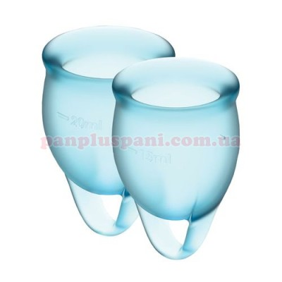 Набор менструальных чаш Satisfyer Feel Confident Light Blue