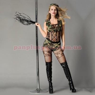 Эротический костюм-милитари Опасная Дейзи
