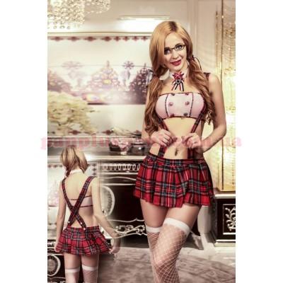Эротический костюм школьницы Избалованная Тина