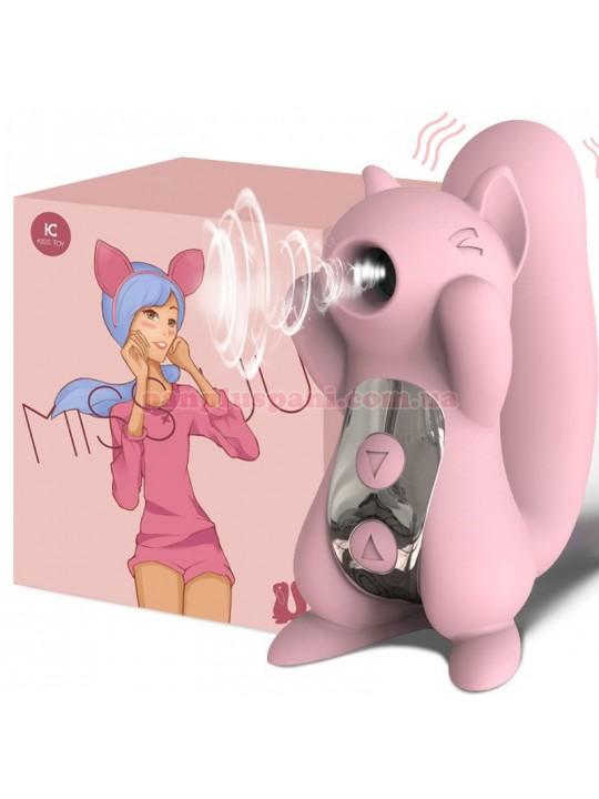 Вакуумный вибратор KissToy Miss UU Pink