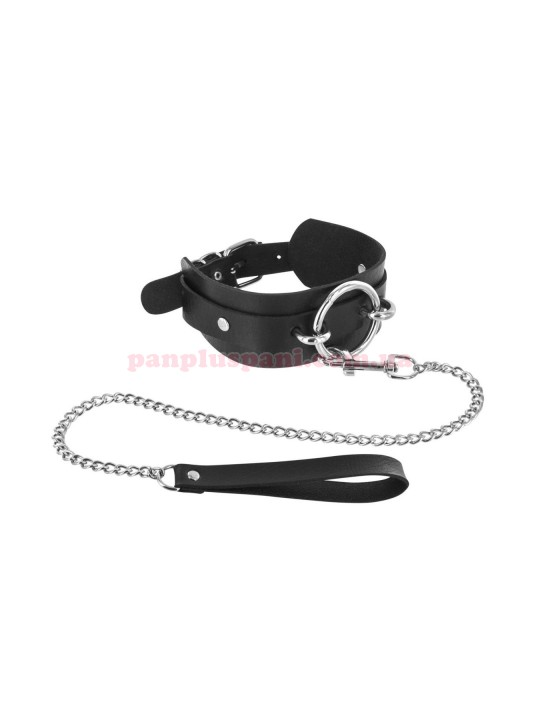 Ошейник Fetish Tentation Ring and Leash с поводком