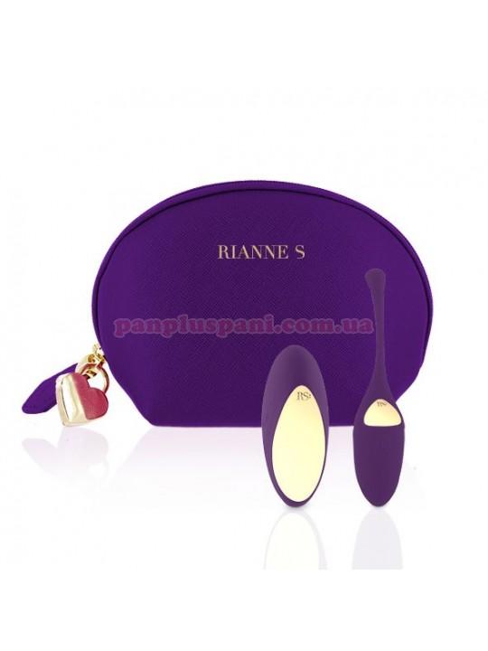 Віброяйце Rianne S Pulsy Playball Deep Purple з вібруючим пультом д/у