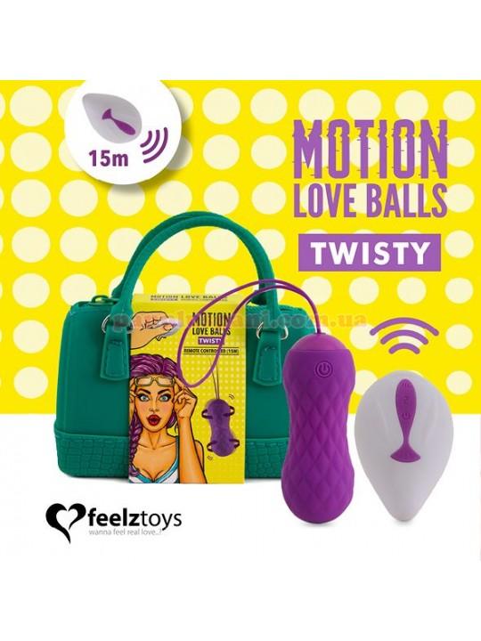Вагінальні кульки FeelzToys Remote Controlled Motion Love Balls Twisty