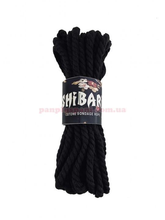 Верёвка хлопковая Feral Feelings Shibari Rope 8 м, чёрная