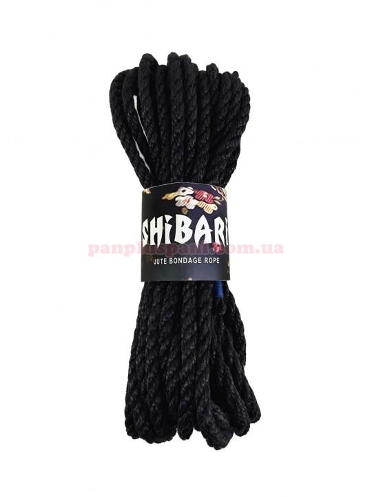 Верёвка джутовая Feral Feelings Shibari Rope 8 м, чёрная