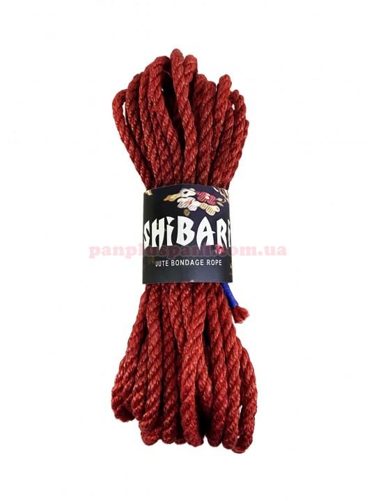 Верёвка джутовая Feral Feelings Shibari Rope 8 м, красная