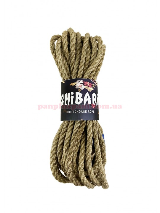 Верёвка джутовая Feral Feelings Shibari Rope 8 м, серая