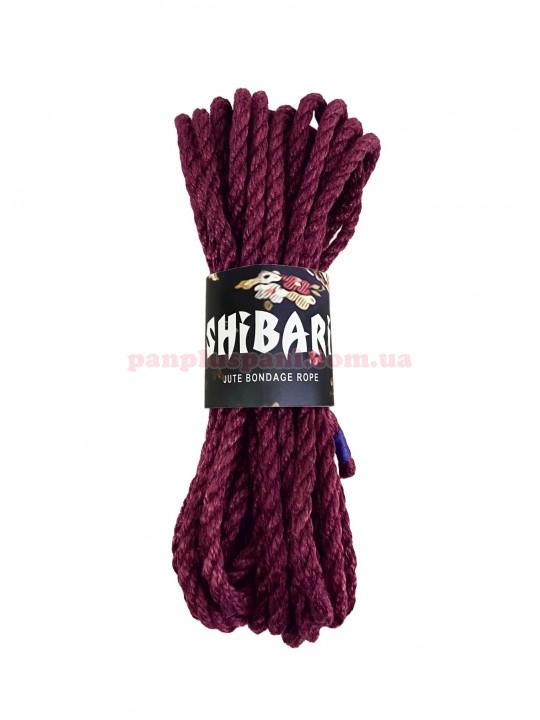 Верёвка джутовая Feral Feelings Shibari Rope 8 м, фиолетовая