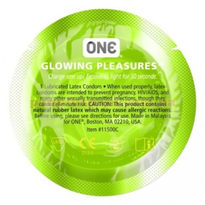Презерватив One Glowing Pleasures