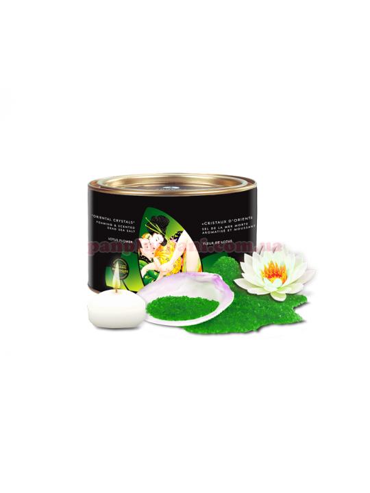 Сіль для ванни Shunga Oriental Crystals Bath Salts Organic Lotus Flower 600 г