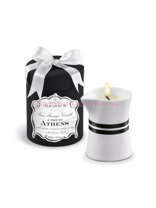 Масажна свічка Petits Joujoux - Athens - Musk and Patchouli 180 г
