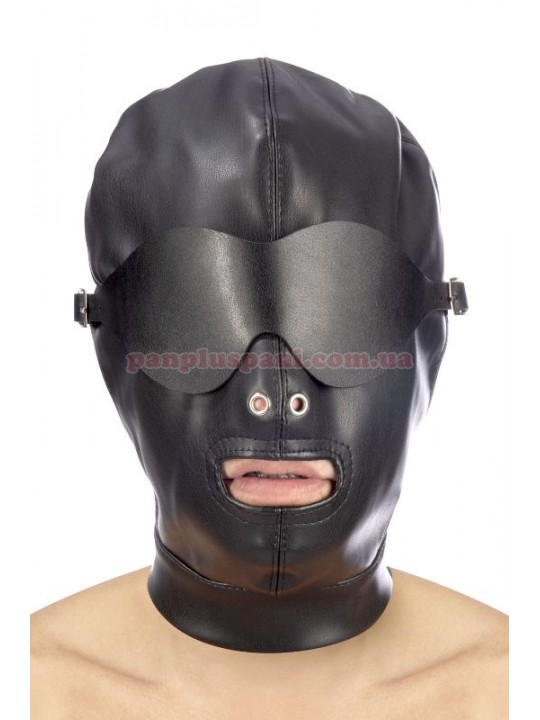 Маска Fetish Tentation BDSM Hood in leatherette with removable mask