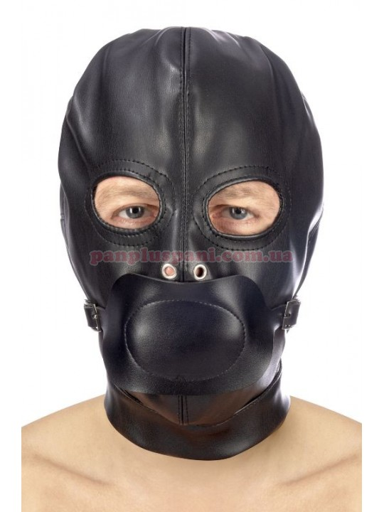 Маска Fetish Tentation BDSM Hood in leatherette with removable gag