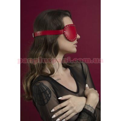 Маска на очі Feral Feelings Blindfold Mask з заклепками червона
