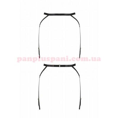 Пояс-стрепи з підв'язками для панчіх Passion Exclusive MEGGY GARTER BELT чорний L/XL