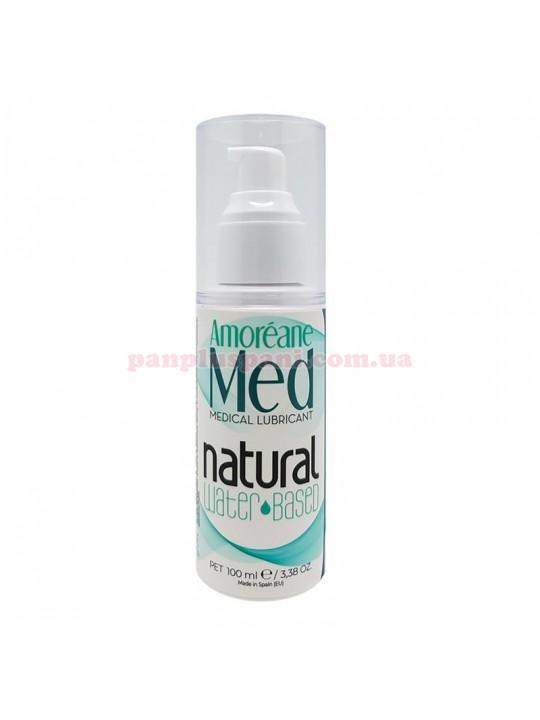 Лубрикант Amoreane Med Natural на водній основі з фітопланктоном та колагеном 100 мл