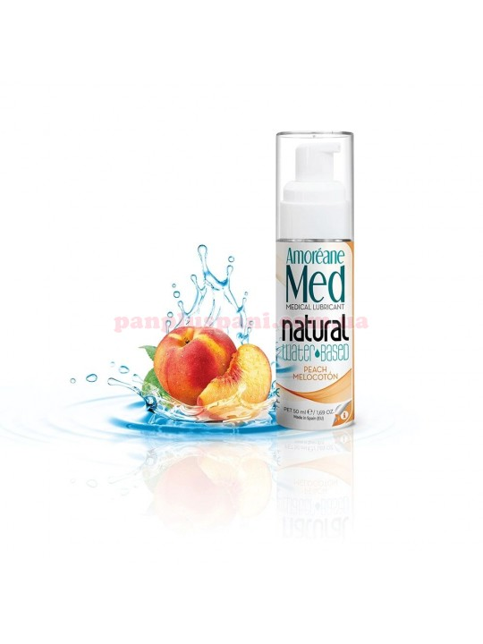 Лубрикант Amoreane Peach на водній основі з фітопланктоном та колагеном 50 мл