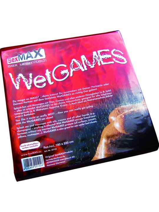 Простыня - SexMAX WetGAMES Sex-Laken, 180 x 220 cm, Red